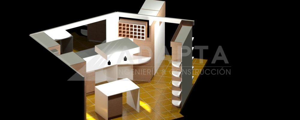 Remodelación modelado de proyecto, perspectiva 1.
