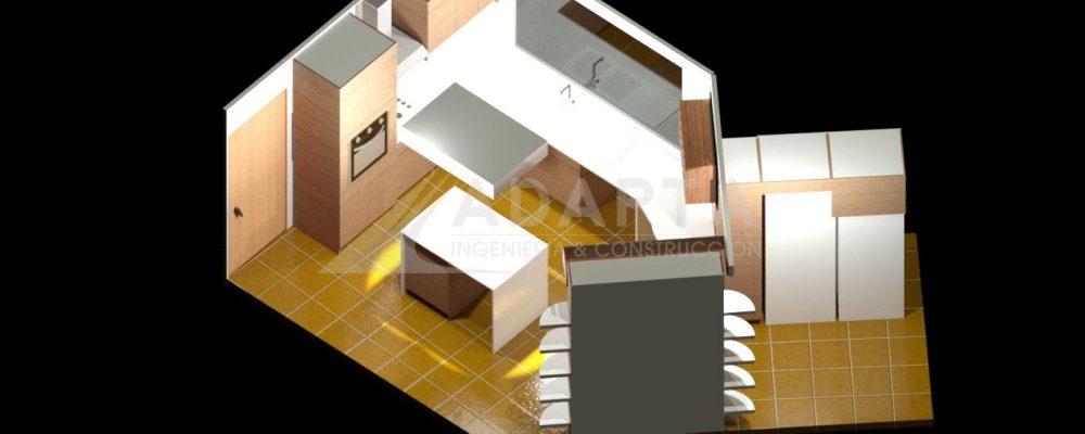 Remodelación modelado de proyecto, perspectiva 2.